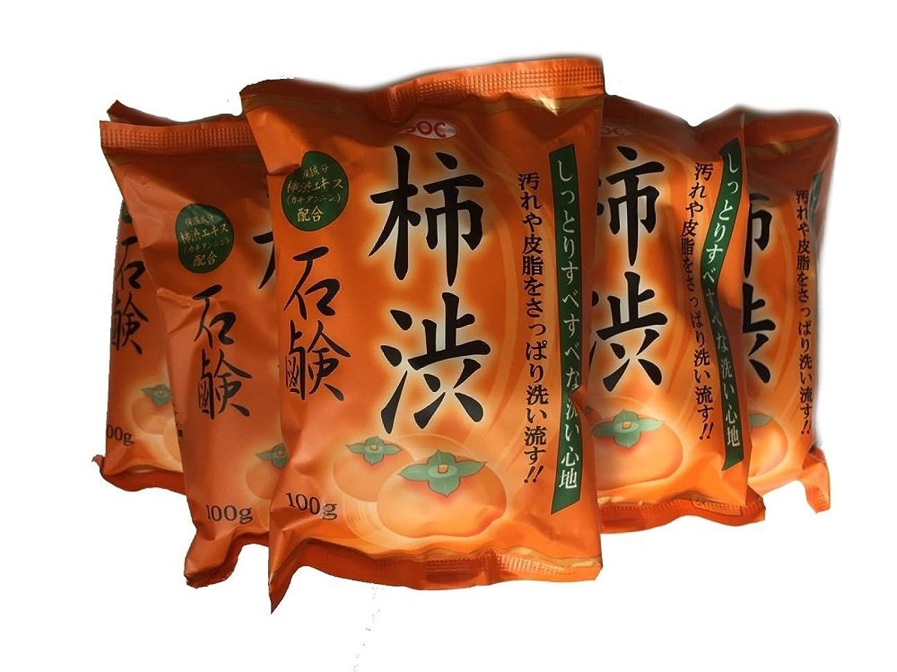 のヒープ動ボタン柿渋石鹸 100g ×6個