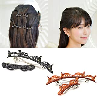 4 PCS French Braider Hair Tool Fashion Double Layer Band Twist Plait Clip Front Hair Clips Hairpin Headband Beauty Tool Hair Accessory
