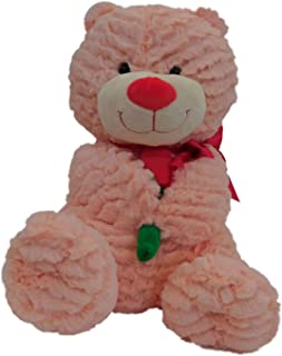 Sweet Sprouts Soft Ribbed Pink Teddy Bear 13