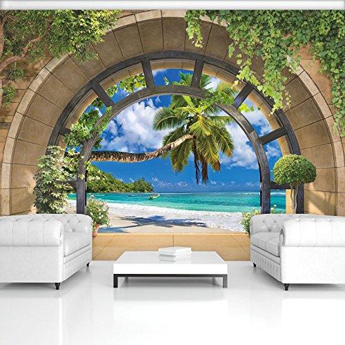 FORWALL Fototapete Vlies - Tapete Moderne Wanddeko Ausblick VEXXL (312cm. x 219cm.) AMF11554VEXXL Wandtapete Design Tapete Wohnzimmer Schlafzimmer