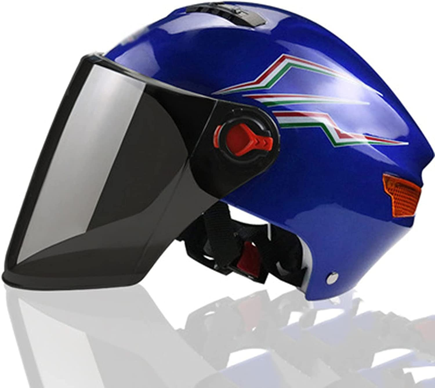 At the price of surprise QAZXCVB Retro Motorcycle Half Helmet Fit Face Release Quick San Jose Mall