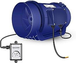 200mm Mixedflow Inline Duct Fan HG Power 220-240V Bathroom Extractor Fan Quiet Tube Exhaust Fan Free Speed Control IP44 Ki...