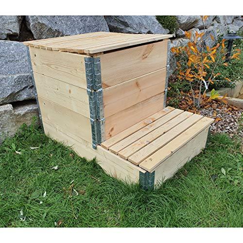 Multitanks - Compostiera in legno naturale da 570 litri