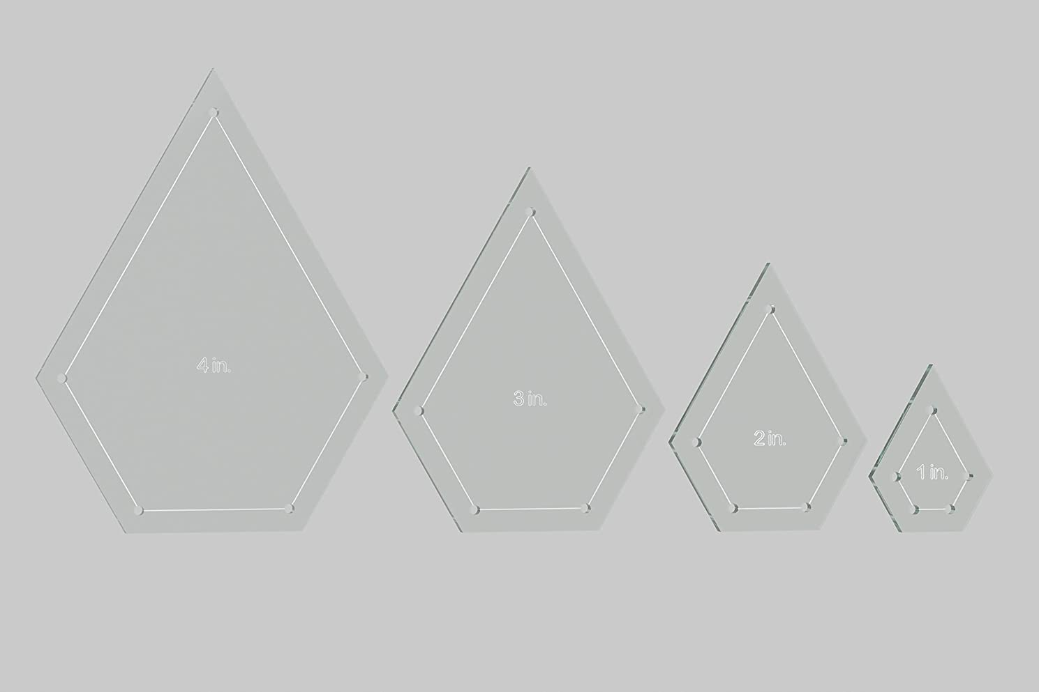 Jewel Quilting Template Set, 4