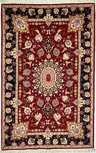 Tappeto persiano tabriz 60R misura 105x166