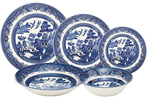 Churchill Blue Willow 30 Piece Dinner Set