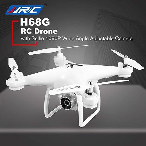 DEjasnyfall JJR   C H68G Selfie Dual GPS Positionierung RC Drone Quadcopter mit 1080P WiFi FPV Einstellbare Weißwinkelkamera Follow Me (Weiß)