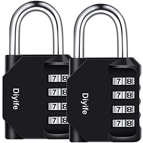 Combination Padlock Toolbox Black Outdoor Storage U-Shaped Password Gym Padlock for School Gym Coded Locker Hasp Fence 5 Digit Combination Lock Employee Locker Filing Cabinets Parking Lock