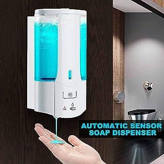 Bottiglia di Dispenser per Gel Doccia Contenitore per Shampoo disinfettante per Le Mani Senza Contatto con sensore a Parete per Sapone Automatico da 400 ml per Bagno in Cucina