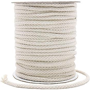 Faderr - Cuerda de algodón suave, 5 mm, 100 m, multicolor, de algodón trenzado, suave, cuerda de macramé, hilo de tejer para jardinería, manualidades, decoración del hogar, No nulo, 1, Tamaño libre: Amazon.es: Hogar