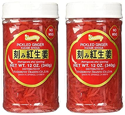 Amazon Com Kizami Shoga Pickled Ginger 12oz 12oz Ground Ginger Spices And Herbs Grocery Gourmet Food