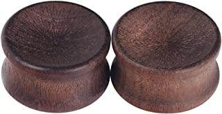 2pcs Concavity Wood Wooden Ear Gauges Ear Plugs Expander Tunnels Ear Piercing Two-Styles 10mm-30mm