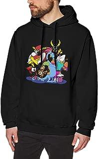 Seanyet Wander Over Yonder Men's Cool Long Sleeve Fleece Sweatshirt Pullover Black