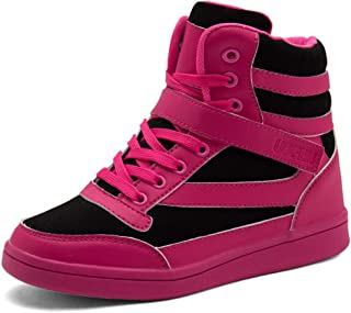 Women's Shoes Hidden Wedges 5.5cm Fashion Sneakers Ankle Boots Bootie Platform Heel High Top Casual Sports