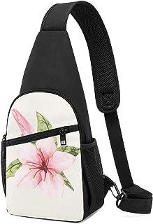 PGTry - Bolso bandolera con diseño de flores aislado, ligero, mochila para el pecho, bolsa cruzada, viajes, senderismo, pa...