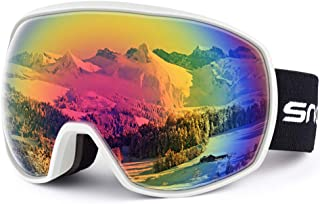 Snowledge Ski Goggles Snowboard Snow Goggles for Men Women OTG Snowboard Goggles with 100% UV Protection Anti-Fog Dual Lens Skiing Goggles Helmet Compatible