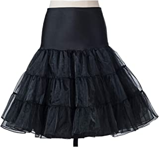 Women's 50s Rockabilly Petticoat Crinoline Vintage Tutu Underskirt Net Tulle Petticoat Half Slips