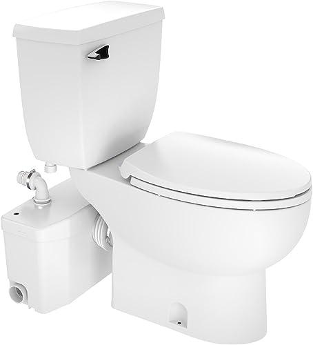 wholesale Saniflo outlet sale SaniPLUS: Macerating Upflush Toilet Kit (with Elongated Bowl + online Extension) outlet online sale