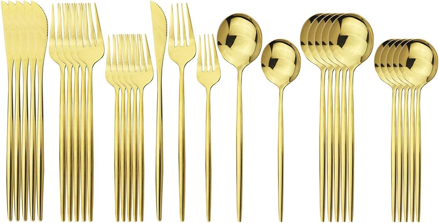 Silverware Cheap bargain Set Dishwasher Attention brand Safe 20-Piece Utensils