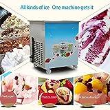 Finlon Fried Ice Cream Machine 36cm /14.1inch Commercial Fried Ice Cream Maker 1050W Fried Ice Cream Roll Machine for Bar Dessert Shop Hotel(Single Round Pan)