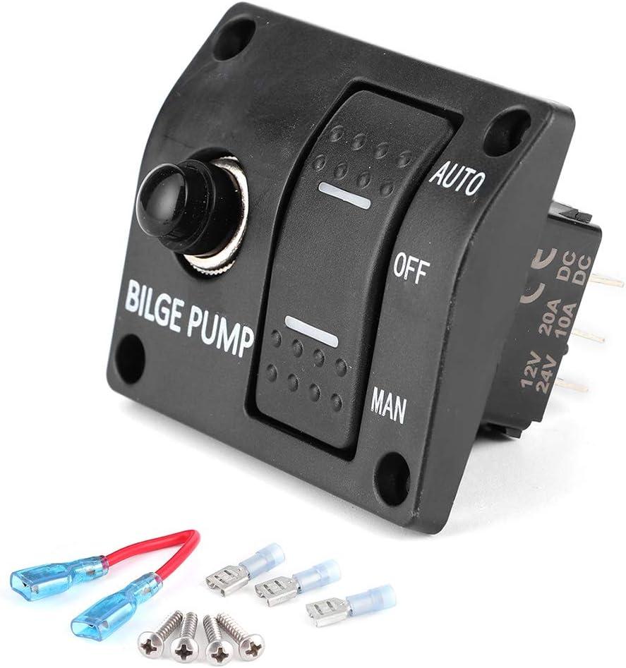 Qiilu 3-Way Bilge Pump Popular brand Switch Marine Super special price 3-W Panel