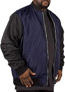 Mens Duke D555 Big Tall King Size Louis Lined Bomber Jacket Coat - Khaki - Green
