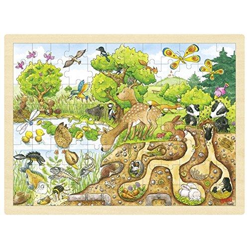 Goki- Puzzles de maderaPuzzles de maderaGOKIPuzzle Descubrimiento de la Naturaleza, Multicolor (1)