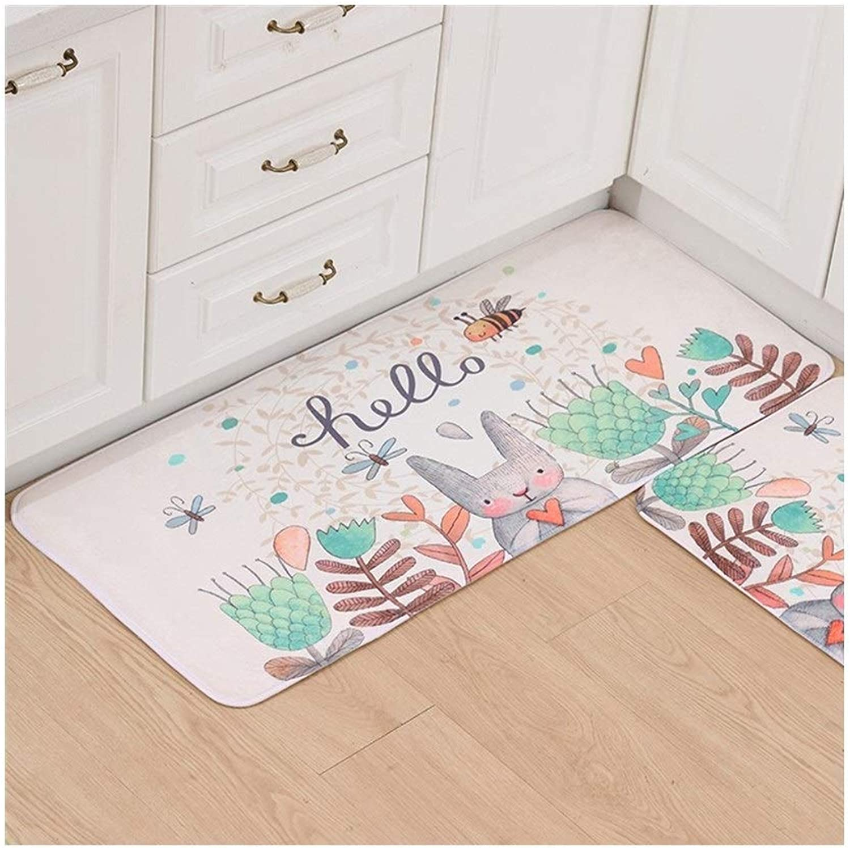 Habitaciones Living Plush Fluffy Carpet, alfombras de Cocina de Franela Dormitorio, Sala de Estar Alfombras Bao Aseos Esteras absorbentes para el hogar (Color   F, Tamao   50x80cm)
