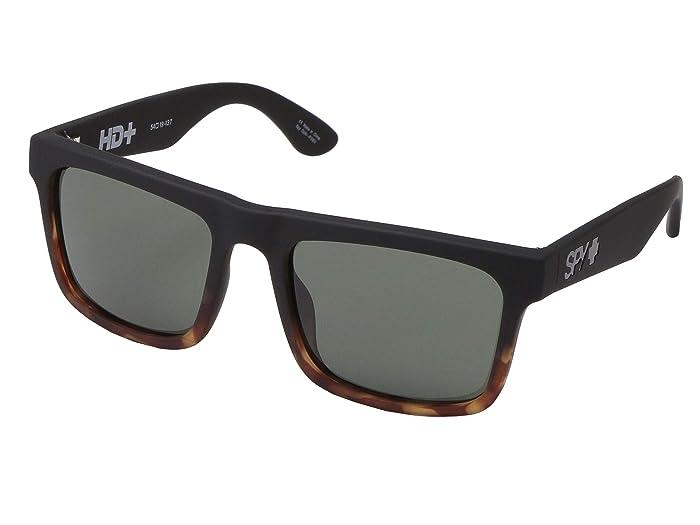 Spy Optic Atlas (Atlas Soft Matte Black Tort Fade HD Plus Gray Green) Athletic Performance Sport Sunglasses