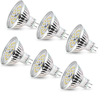 MR16 LED Frio, Wowatt Bombillas LED MR16 GU5.3 12V 6W Blanco Frio 6000K Equivale a 40W Halogeno Spot GU 5.3 GX5.3 AC DC 12V 510lm 120º Ángulo de haz Pack de 6