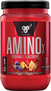 BSN Amino X Muscle Recovery & Endurance Powder with BCAAs, 10 Grams of Amino Acids, Keto Friendly, Caffeine...