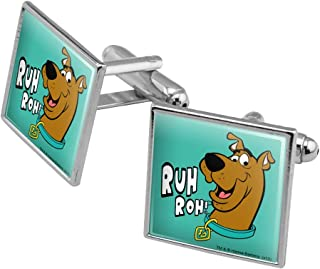 GRAPHICS & MORE Scooby-Doo Ruh Roh Square Cufflink Set - Silver or Gold