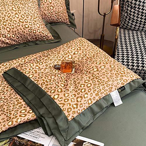 CHOU DAN Edredón Tencel de Verano con Aire Acondicionado de Cuatro piezas-200X230cm Juego de 4 Piezas A-4_6