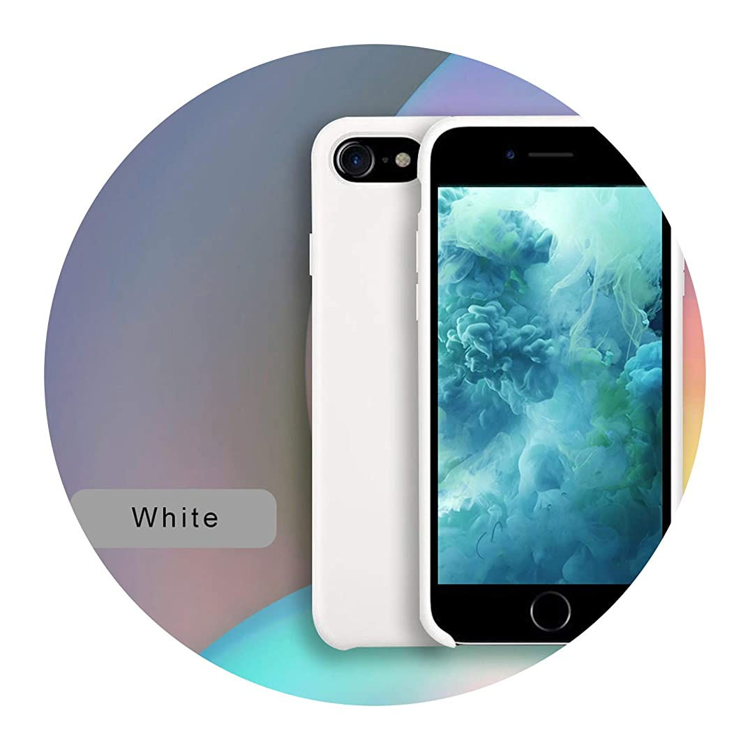 Original Official Silicone Case for Apple iPhone X Xs MAX XR Cover case Logo Apple iPhone 7 8 Plus 6 6s 5 5s SE Cases,White,for iPhone Xs Max