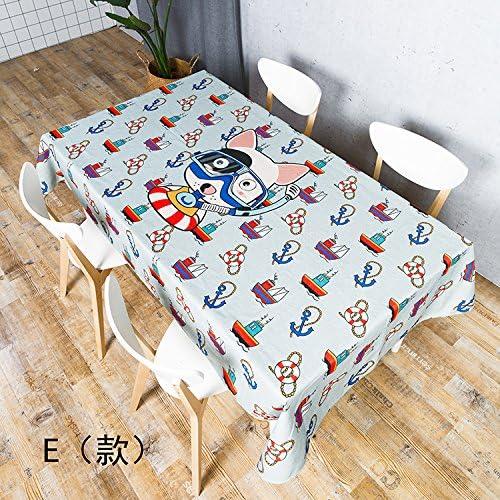 100% garantía genuina de contador azulLSS azulLSS azulLSS Cartoon patrón cuadriculado el algodón y el lino mantel para mesa de comedor mesas de té mantel,E,85x85cm.  60% de descuento