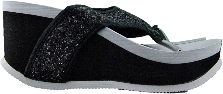 DE FONSECA Woman Slippers Wedge Heel high Glitter Made in