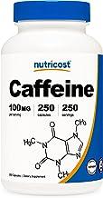 Nutricost Caffeine Pills 100mg Per Serving, 250 Capsules
