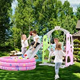 Toddler Slide and Swing Set│4 in 1 Climber Slide Playset with...