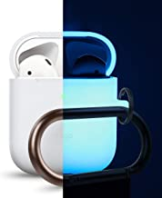 elago AirPods Hang Case [Nightglow Blue] - Compatible with AirPods 2 & 1, Front LED Visible, Support Wireless Charging, AirPods 2 Fitting Tested, Extra Protection