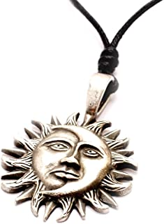 New Ying Yang Sun and Moon 92.5 Sterling Silver Charm Necklace Pendant Jewelry