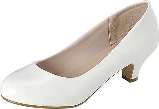Women's Classic Dress Formal Round Toe Low Mid Heel Pump