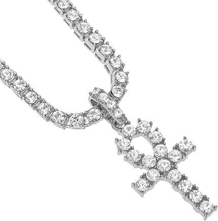 EuroLux Crucifijo de Titanium y Acero Inoxidable Joyeria Fina para Hombres Necklace Piece Cross Pendant CA0034