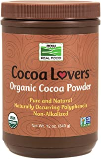 NOW Foods Organic Cocoa Powder, Unsweetened-12 oz