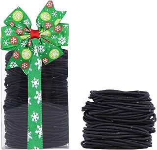 結び目・接合なしタイプ ヘアゴム リングゴム 黒 基本ヘアゴム 髪飾り 髪留め ヘアアクセサリー 黒 200本セット (ブラック2mm)