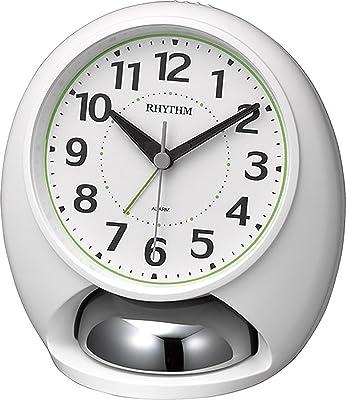 リズム(RHYTHM) 目覚まし時計 大音量 アナログ タフバトラーラウド ベル音 アラーム 白 RHYTHM 4RA480SR03