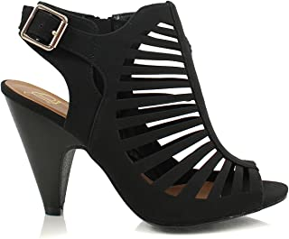 Women's Gladiator Strappy Comfortable Open Toe Heel Sandals for Women