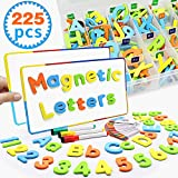 Pussan Magnetic Letters and Numbers for Kids Education Alphabet Fridge Magnets Refrigerator Learning