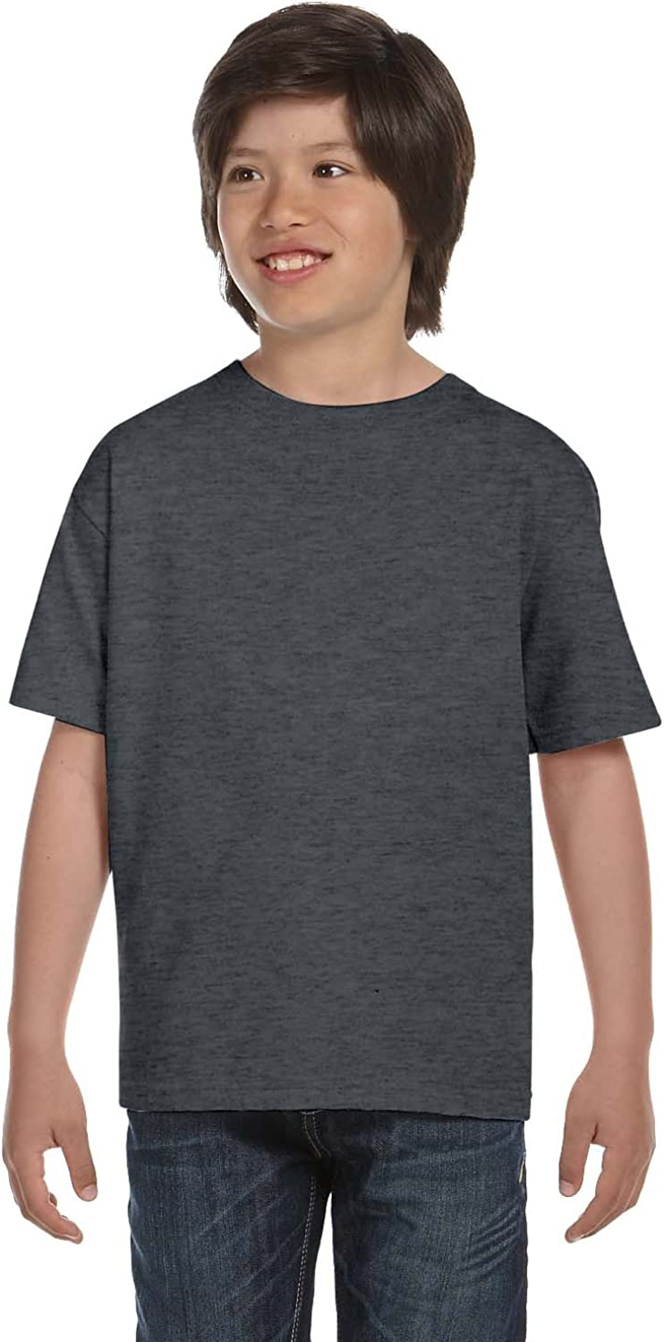 By Hanes Youth 61 Oz BEEFY-T - Charcoal Heather - XS - (Style # 5380 - Original Label)