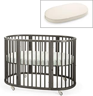 Stokke Sleepi Crib and Organic Mattress Bundle, Hazy Grey