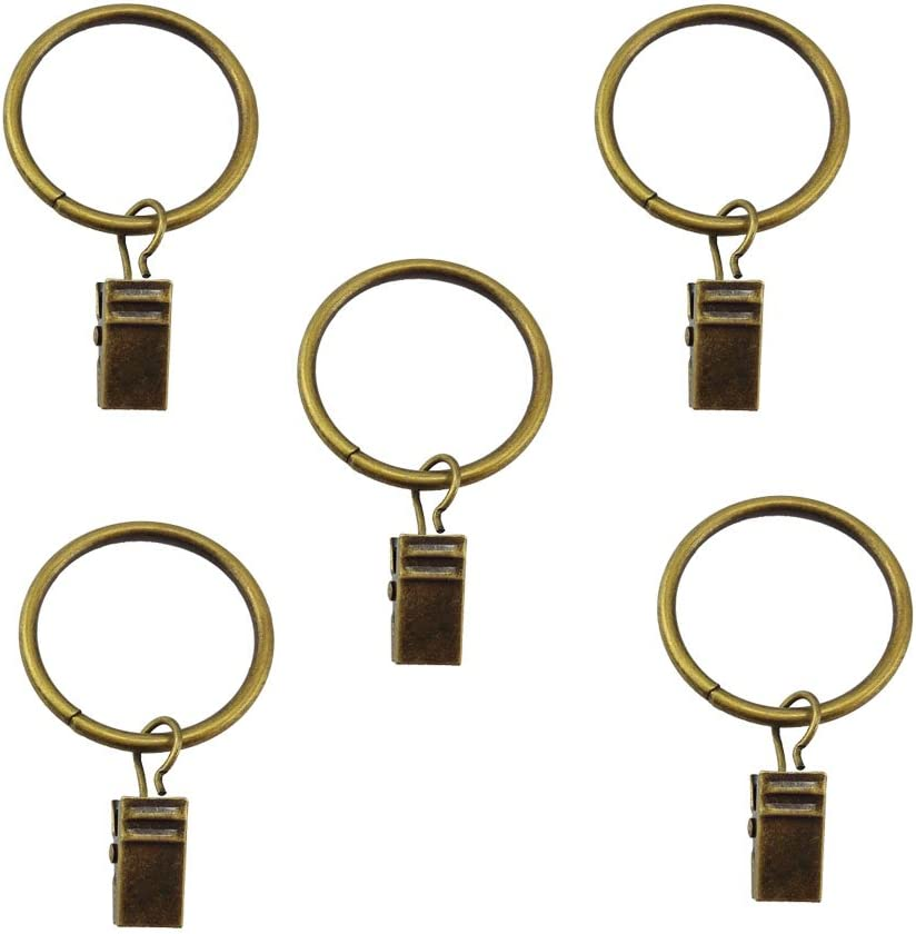 Blovess New Ranking TOP17 item Yueton Pack of 20 Window f with Curtain Metal Ring Clips